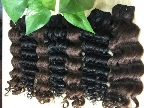 Hot-steam-wavy-hair-extensions-black-and-brown-color