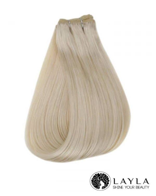 Vietnamese remy blonde color hair extensions