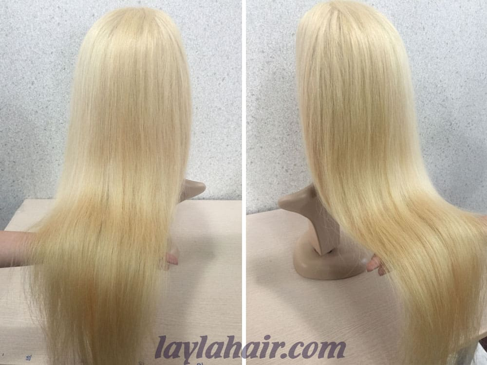 Human Remy Hair Full Lace Wigs Color #60
