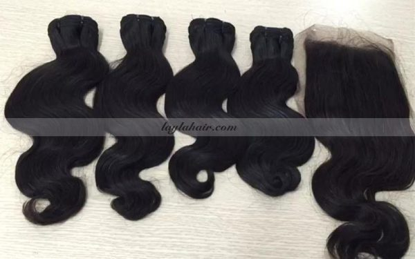 12-inch-weave-body-wavy-Cambodian-extensions-and-lace-frontal-closure-laylahair