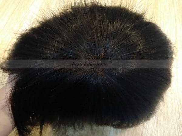 Mono base Hair Topper Toppee with 100 Remy humanHair