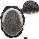 [100% Vietnamese Hair] 8 Inch Mens Gray Hair Toupee - LaylaHair