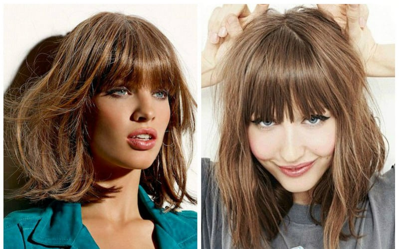 Top 10 Most Beautiful Hairstyles For Square Faces With Bangs 2019