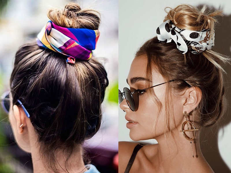 6 Simple Ways To Wear A Scarf In Your Hair | Tips To Look Gorgeous In A Minute