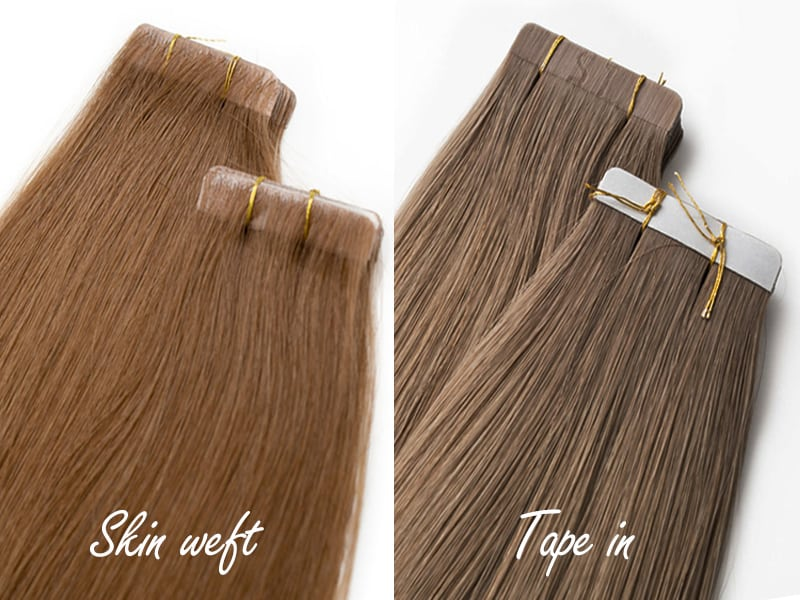 Skin Weft Tape Extensions vs Tape Extensions - What's The Difference?