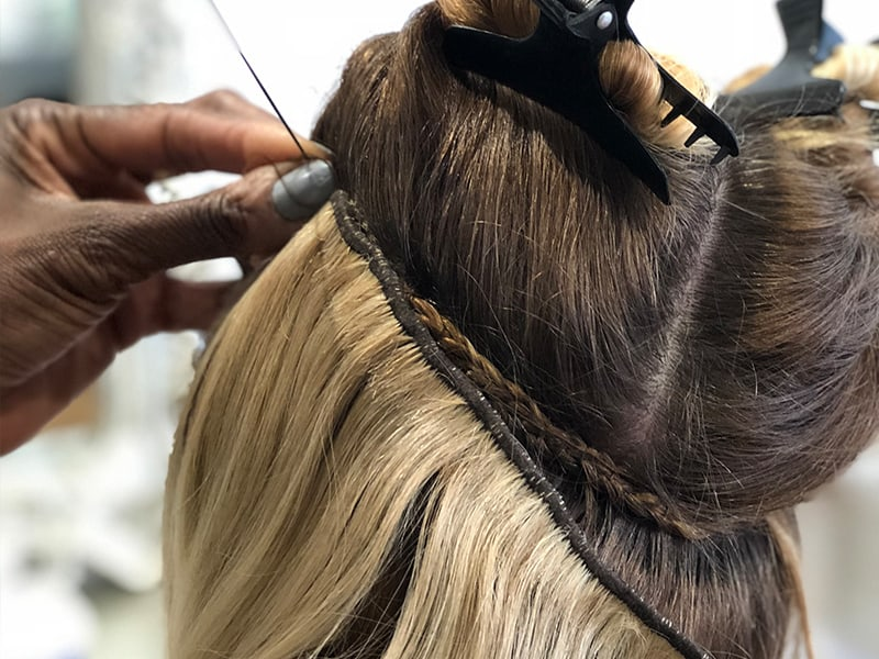 How To Sew In Hair Extensions Without Braids?