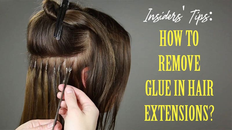 Bonding hair extensions yourself