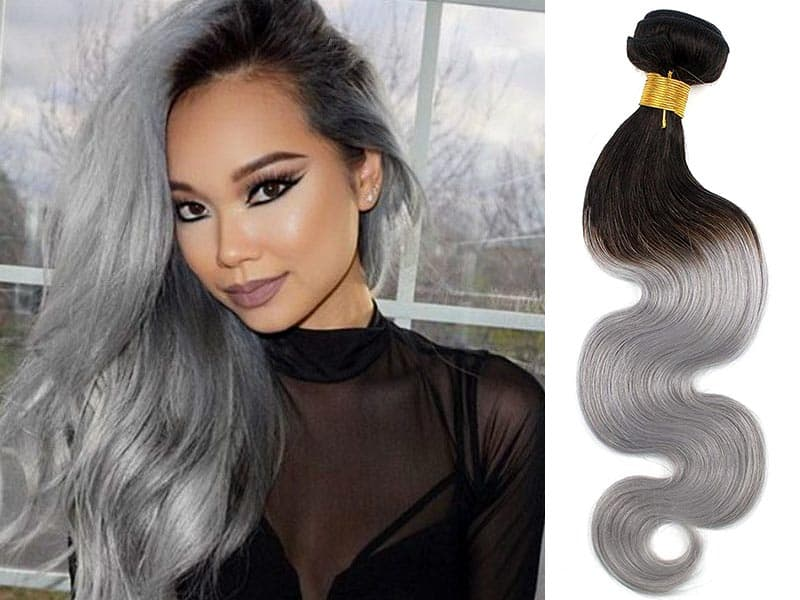 Amp Up Your Hotness With These 10 Grey Ombre Hair Extensions Styles!