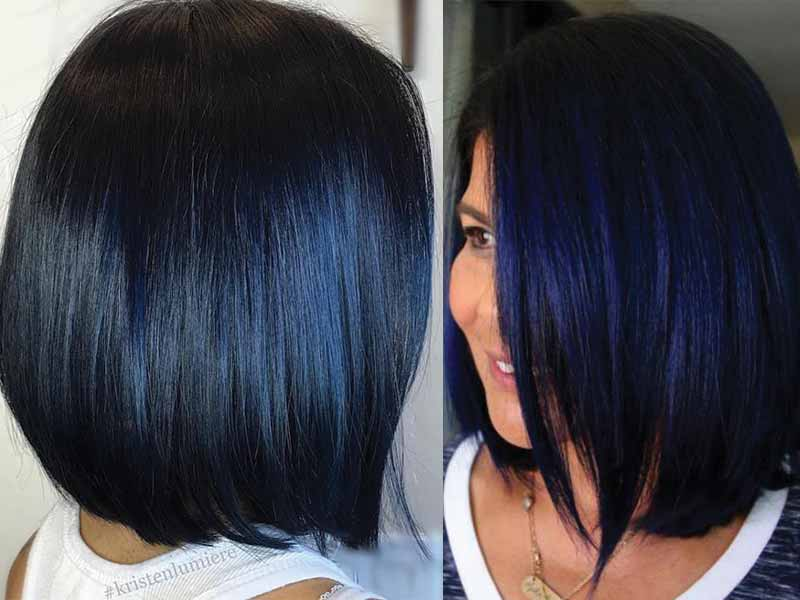 Top 50+ Greatest Blue Black Hair Color Ideas To Rock 2020