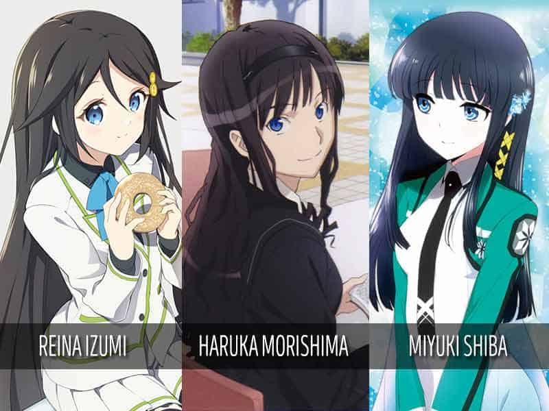 Top 9 Anime Girls With Black Hair And Blue Eyes