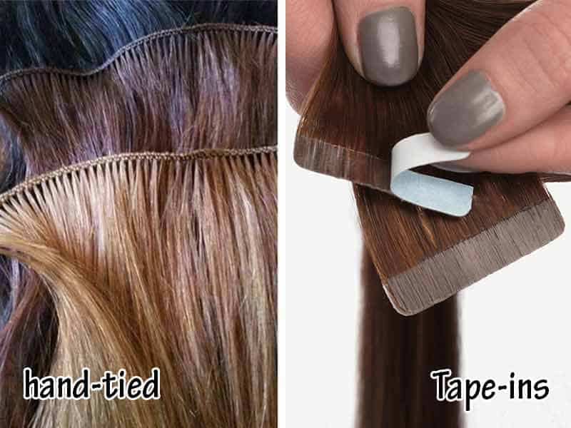 Hand-Tied Extensions Vs Tape-In - A Quick Comparison